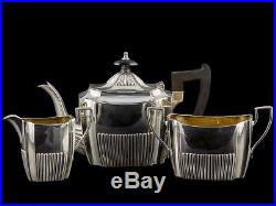 1899 Sterling Silver Bachelor Tea Set by Martin Hall & Co
