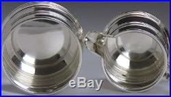 1933-1934 3pc English Sterling Silver Lighthouse Demitasse / Tea Coffee Set