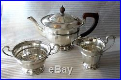 1934 English Sterling Silver Tea set GEORGE III Style Antique 586 gr. 3pc
