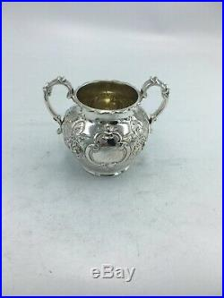 3 Pieces Sterling Silver Bachelor Teaset