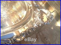 4 Pc Museum Quality Wallace Grande Baroque Sterling Silver Tea Set + Tray Grand