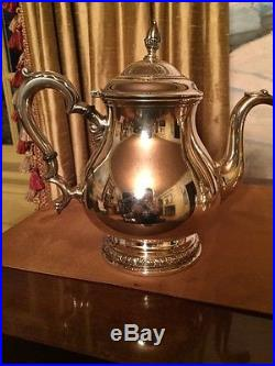 5 Five Piece Sterling Silver PRELUDE Tea Set by International Great Condition