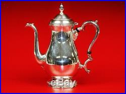 5 Piece Sterling Silver Tea Set Teapot, Coffee, Creamer, Sugar, Waste and Tray
