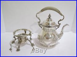 5 piece Sterling Silver Gorham Antique Chantilly Tea & Coffee Set with Heater