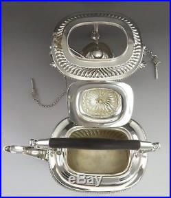5pc Vintage 1930-1933 English Viners Sterling Silver Tea Set with Kettle on Stand