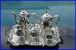 6 Pc Mint Condition Prelude Coffee / Tea Set International Sterling Silver