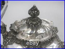 6-Piece Sterling Silver Dominick & Haff Tea/ Coffee Set with Tray