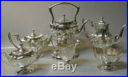 7 Piece Set 1909 Whiting Manufacturing Co. Sterling Silver Tea / Coffee Set