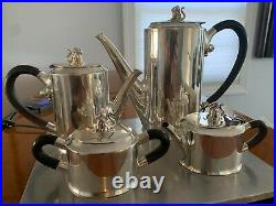 A Mexican Sterling Silver Jaguar Tea and Coffee Set, William Spratling, Taxco