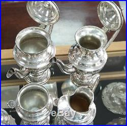 A Portuguese sterling 925 silver coffee and tea set with tray