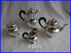 ANTIQUE FRENCH STERLING SILVER COFFEE, TEA SET, LOUIS XV STYLE, LATE 19th CENTURY
