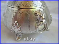 ANTIQUE FRENCH STERLING SILVER TEA SET, COUNT S CROWN, NAPOLEON 3,19th CENTURY