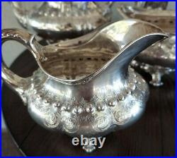 ANTIQUE TIFFANY & Co. Heavy STERLING SILVER TEA/COFFEE SET Estate Silver WOW