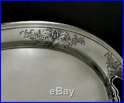 Alvin Sterling Tea Set Tray c1940 Hand Chased No Mono