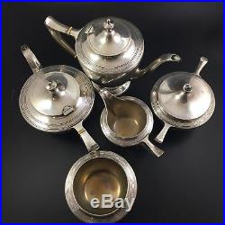 Antique Durgin Sterling Silver Tea Coffee Service Set 1620g