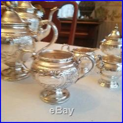Antique Gorham Chantilly Sterling silver Tea and Coffee set NO MONOGRAM