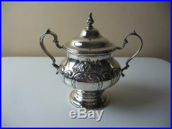 Antique Gorham Sterling Silver Chantilly COFFEE and TEA SET 6pc (waste & tray)
