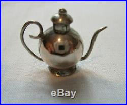 Antique, MINIATURE, STERLING SILVER, 13pc, Doll House Tea Set. ABSOLUTELY ADORABLE
