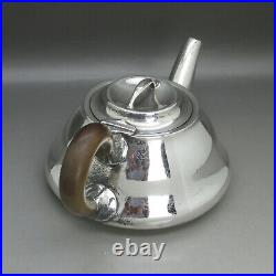 Antique Rare Liberty & Co 3ps Solid Sterling Silver Bachelors Teaset Birm 1910