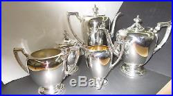 Antique Sterling Silver Dining Complete Tea & Coffee Service Set 2,738 Grams