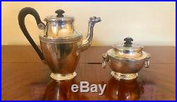 Antique Sterling Silver Tea Pot & Sugar Bowl Set from Paul Canaux