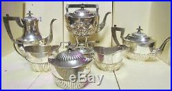 Antique Sterling Silver Tea Set, English Gorham, 1912, Very Good Condition