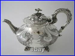 Antique Victorian 4-piece Sterling Silver Tea & Coffee Set 1839 by John Wellby
