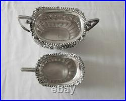 Antique sterling silver three piece tea set c 1904 Chester United Kingdom