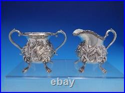 Baltimore Rose By Schofield Sterling Silver 4 Piece Tea Set #1295 (#4152)