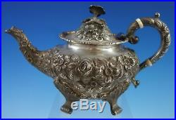 Baltimore Rose by Schofield Sterling Silver Tea Set 5pc #2500 (#2784) Repousse