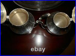 Beautiful 5 Piece Sterling Silver Dunkirk 505 Coffee & Tea Set with Tray NO MONO