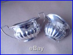 Beautiful Antique Sterling Silver Tea Set Service 1923