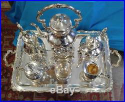 Best Camusso Sterling Silver Coffee Tea 30 Tray Service Set 8455 Grams