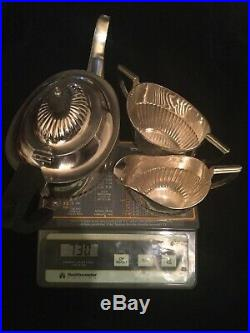 Birks Sterling Silver Federal Style Three Pieces Tea Set