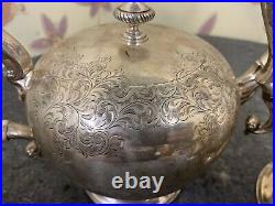 Birks sterling silver 4 Tea Coffee Set 75 OZT Hand Chased T 8