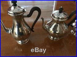 Buccellati Sterling Silver Tea/Coffee Set, Never Used, Unpolished