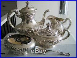 Buttercup by Gorham 4 piece Coffee or Tea Set, Sterling Silver NO MONOGRAM