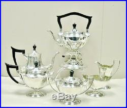 C'1911 GORHAM 7 Pc Sterling Silver PLYMOUTH Tea Coffee Set+Kettle+Stand 94.85ozt