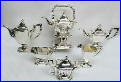 CLASSIC 1895 GORHAM STERLING SILVER 6 PIECE COFFEE & TEA SET With WATER KETTLE