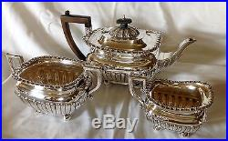 CLASSIC ENGLISH STERLING SILVER TEA SET, CA. 1899 by JOSEPH RODGERS ...