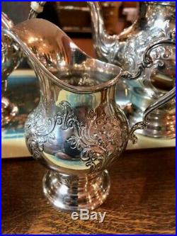 Chantilly by Gorham Sterling Silver Coffee Tea Set 5pc 85.94 TOZ