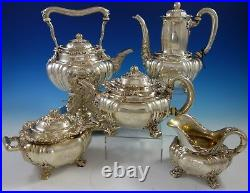 Chrysanthemum by Tiffany and Co Sterling Silver Tea Set 5pc (#2798) Magnificent