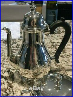 Complete Tiffany & Co Queen Anne 5-pc Museum Quality Sterling Silver Tea Set