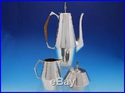 Diamond by Reed & Barton Sterling Silver Coffee Tea Set 3-Piece #440 (#4513)