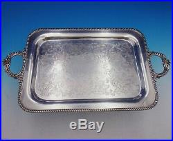 English Gadroon by Gorham Sterling Silver 5-pc Coffee Tea Set withplate tray #4451