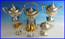 Etruscan by Gorham Sterling Silver Tea Set 6pc (#2186)