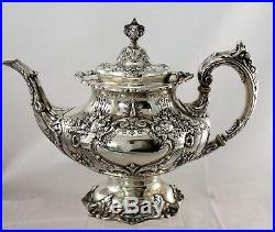 FRANCIS I BY REED & BARTON Sterling Silver 5-PC TEA & COFFEE SET, Mono