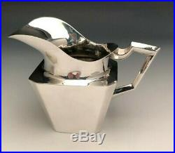 Fabulous Art Deco 5 piece Sterling Silver Tea Set with Tray, Feisa Co. Mexico