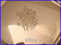 Fine Aesthetic Sterling Butterfly Repousse Tea Coffee Set Dominick Haff 1881