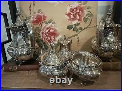 Fisher Silversmiths Sterling Silver Coffee Tea Set 5 Pieces